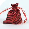 Animal Print Satin Bags 11cm x 14cm - Red 10/pk