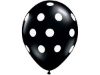 Polka Dot Party Balloons-Black 25/pk