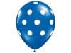 Polka Dot Party Balloons-Blue 25/pk