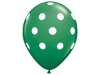 Polka Dot Party Balloons-Green 25/pk