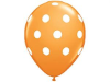 Polka Dot Party Balloons-Orange 25/pk