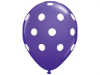 Polka Dot Party Balloons-Purple 25/pk