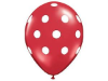 Polka Dot Party Balloons-Red 25/pk