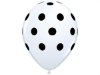 Polka Dot Party Balloons-White 25/pk