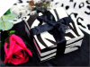 10 x 10 x 5cm Cake Box Black & White Zebra-25pc
