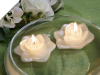 6.35cm Ivory Floating Rose Candle-4/pk