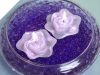 5.08cm Lavender Floating Rose Candles - 3/pk