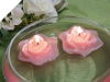 5.08cm Pink Floating Rose Candles - 3/pk