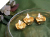 Mini Floating Rose Candle Gold-12/pk