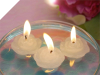 Mini Floating Rose Candle White-12/pk