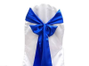 Satin Royal Blue Chair Sash