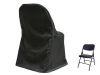 Folding Chair Cover ROUND Top - BLACK
