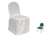 Banquet Chair Covers (Polyester) - WHITE