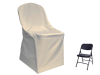 Folding Chair Cover FLAT Top - IVORY