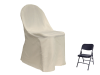 Folding Chair Cover ROUND Top - IVORY