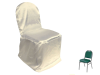 Banquet Chair Covers (Satin) - IVORY