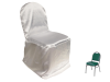 Banquet Chair Covers (Satin) - WHITE