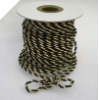 3mm Metallic Cord - Black/Gold
