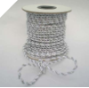 3mm Metallic Cord - White/Silver