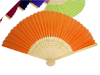 Asian Silk Folding Fans - Orange