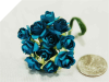 Paper Roses - Turquoise 144/pk