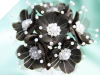 Faux Pearl Flower-Black.72/pk