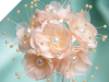 Faux Pearl Flower-Peach.72/pk