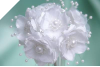 Faux Pearl Flower-White-72/pk