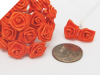 Ribbon Roses-Orange.144/pk