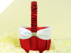 Red & White Wedding Flower Girl Basket