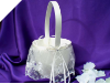 Classic Beauty Wedding Flower Girl Basket - Ivory