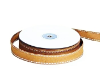 1.58cm Stitched Grosgrain - Brown/Tan