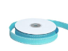 1.58cm Stitched Grosgrain - Turquoise
