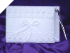 Classic Guest Book with Pen - White