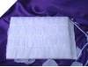 Organza Guest Book & Pen - White