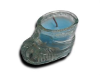 Glass Baby Boot Candle - BLUE