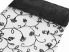 Organza Embroidery Roll 30.48cm x 9.14m - Black