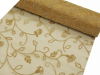 Organza Embroidery Roll 30.48cm x 9.14m - Gold