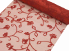 Organza Embroidery Roll 30.48cm x 9.14m - Red