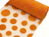 Organza Groovy Dots Roll 30.48cm x 9.14m - Orange