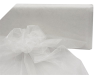 137cm x 36.5m Organza Fabric Bolt - White