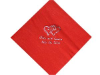 Personalized Beverage Napkin (large emblem) - 100 Count