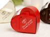 Personalized Red Heart Favour Box - 100pc
