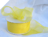 3.81 cm Organza Ribbon-Yellow (Bright)