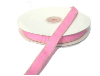 1.58cm Stitched Grosgrain - Pink with Apple