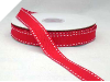 1.58cm Stitched Grosgrain - Red