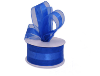 3.81cm Organza Satin Centre - Royal Blue