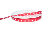 0.95cm x 45.72metres Grosgrain Polka Dot-Red