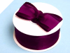 3.81cm Wired Satin Edged Organza - Eggplant
