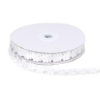 1.27cm Satin Flower Trim - White
